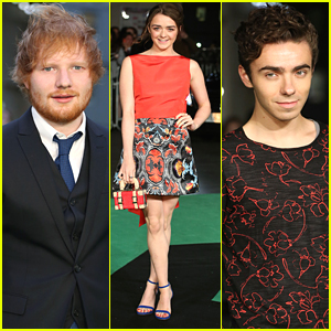 Nathan Sykes & Maisie Williams Support Ed Sheeran At 'Jumpers For Goalposts' Premiere