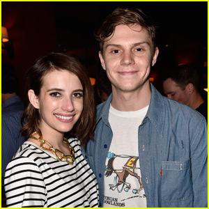 Evan Peters on Emma Roberts Relationship: 'I Just Love Her'