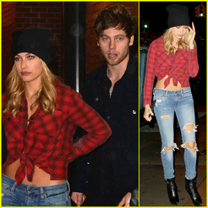 Hailey Baldwin & 5SOS Singer Luke Hemmings Get Dinner in NYC!