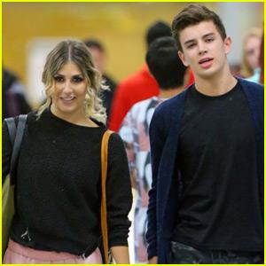 Hayes Grier & Emma Slater Land in NYC After 'DWTS' Elimination