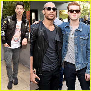 Joe Jonas & Cameron Monaghan Make It A Stud Fest At Vince Camuto Men's Preview!