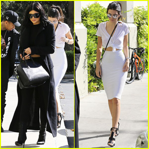 Kylie & Kendall Jenner Celebrate Kim Kardashian's 35th Birthday at the Movies!