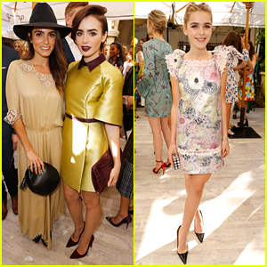 Lily Collins Celebrates CFDA & Vogue's Fashion Fund Show With Nikki Reed