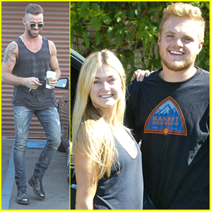 Lindsay Arnold Gets Visit From Husband Sam Cusick At DWTS Studio