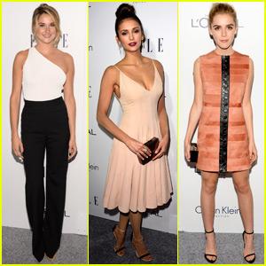 Shailene Woodley & Nina Dobrev Go Glam for Elle's Women in Hollywood Awards 2015