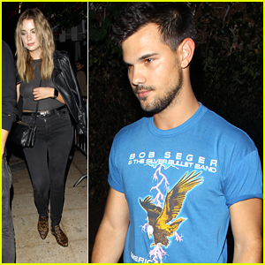 Taylor Lautner & Ashley Benson Hit Hollywood Nightclub With Friends