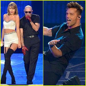 Taylor Swift Sings 'Livin' La Vida Loca' with Ricky Martin!