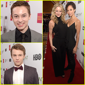 Hayden Byerly & Gavin MacIntosh Hit The Voices On Point Gala with Teri Polo & Sherri Saum