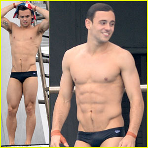 Tom Daley's Body Looks Ripped in His Speedo!