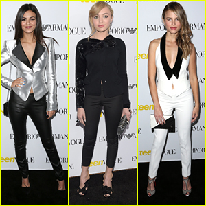 Victoria Justice & Peyton List Meet Up Again For Teen Vogue's Young Hollywood Party