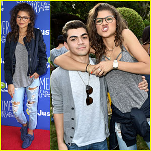 Zendaya Reunites with Adam Irigoyen at Just Jared Jr. & Amazon Prime's Fall Fun Day!