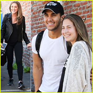 Alexa PenaVega Returns To DWTS Studio To Support Husband Carlos & Witney Carson