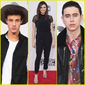 Cameron Dallas & Nash Grier Attend AMAs 2015 With Rebecca Black!