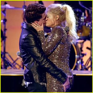 Charlie Puth Explains Why He Kissed Meghan Trainor at AMAs 2015 (Video)