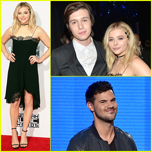 Chloe Moretz Presents at AMAs 2015 with '5th Wave' Co-star Nick Robinson!