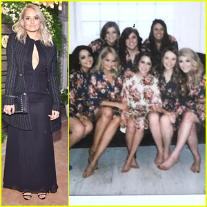 Debby Ryan Hits Up Barneys New York Private Dinner After Maid of Honor Duties For BFF Emma