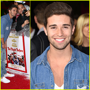 Jake Miller Forgets His Ugly Christmas Sweater For 'The Night Before' Premiere