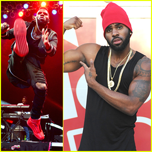 Jason Derulo Shows Off Muscles During Radio Stop In Florida