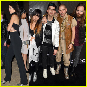 Joe Jonas Mingles With Kendall Jenner & Tyga at Diddy's Birthday Bash