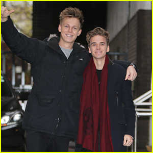 Caspar Lee & Joe Sugg Meet A Legend While Promoting 'Joe and Caspar Hit the Road'