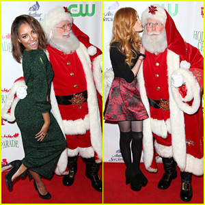 Katherine McNamara Was Caught Kissing Santa Claus!
