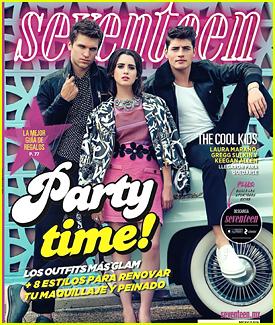 Laura Marano, Keegan Allen & Gregg Sulkin Cover 'Seventeen Mexico' December 2015!