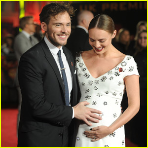 Sam Claflin Expecting First Child With Laura Haddock - See Her Cute Baby Bump at 'Mockingjay Part 2' Premiere!