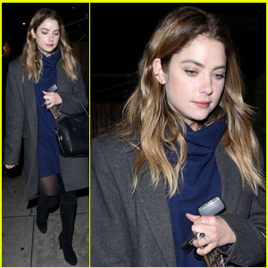 Ashley Benson Debuts a Darker 'Do in WeHo
