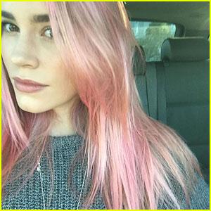 Christa B. Allen's New Hair is Pretty in Pink