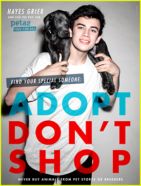 Hayes Grier & Puppy Zan Appear In New peta2 Ad - See It Here!