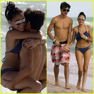 Madison Beer & Jack Gilinsky Continue to Pack on Beach PDA in Miami