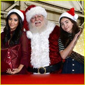 Rowan Blanchard & Shay Mitchell Bring The North Pole To Delta Airline's Hanger at LAX