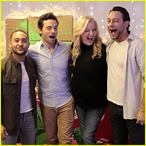 Tahj Mowry & Ian Harding Surprise CHLA Patients with a Pizza Party & Presents for Pop-Up Santa