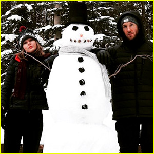Taylor Swift & Calvin Harris Build a Very Impressive Snowman!