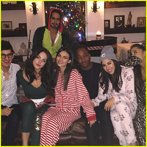 Victoria Justice & Ariana Grande Reunite For 'Victorious' Onesie Party - See The Pics!