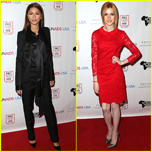 Zendaya Hosts First World AIDs Day Benefit With Katherine McNamara