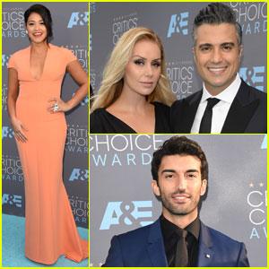 Gina Rodriguez & Justin Baldoni Hit the Critics' Choice Awards 2016 With Jaime Camil