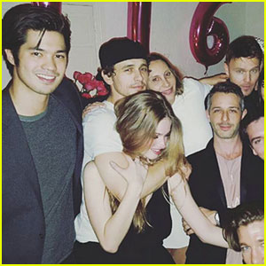 Ross Butler Parties With James & Dave Franco on New Year's Eve