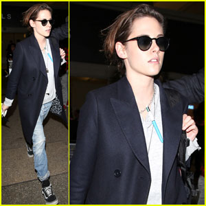 Kristen Stewart Carries a Pen Around Her Neck