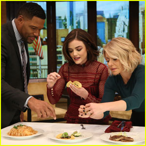 Watch Lucy Hale Eat a Grasshopper Taco on 'Kelly & Michael'! (Video)