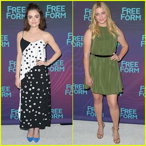 Lucy Hale & Sasha Pieterse Rep 'Pretty Little Liars' At ABC's TCA Winter Tour Party