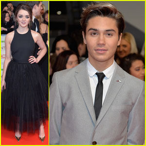 Maisie Williams & George Shelley Both Attend National TV Awards 2016
