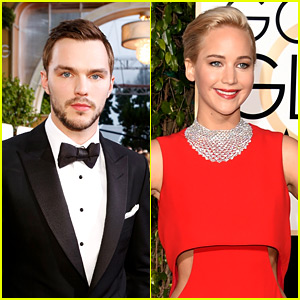 Nicholas Hoult & Jennifer Lawrence Had a Reunion at Golden Globes 2016!