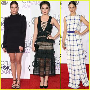 Ashley Benson, Lucy Hale, Troian Bellisario, & Shay Mitchell Hit Up People's Choice Awards 2016