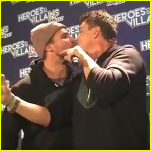 Stephen Amell Sings 'Music of the Night,' Kisses John Barrowman (Video)