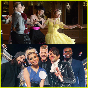 Derek Hough & Witney Carson McAllister Dance To Pentatonix For 'Wonderful World of Disney: Disneyland 60' Special - Sneak Peek Pics!