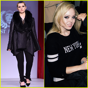Abigail Breslin Sports A Chic Rocker Look During NYFW!