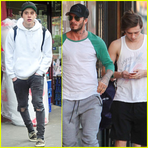 Brooklyn Beckham & Dad David Have a Father-Son Weekend