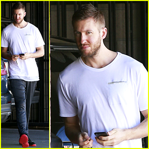 Calvin Harris Works Up a Sweat in Los Angeles