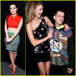 Charli XCX & Karlie Kloss Are Vibrant at Jeremy Scott NYFW 2016 Show
